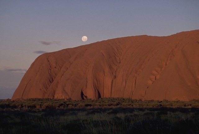 Ayers Rock during sunset